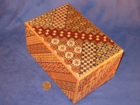 7 Sun 66 Move Yosegi Japanese Puzzle Box By Mr. Oka