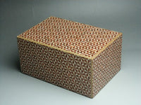 6 Sun 14 Move Double Compartment Kirichigai R Japanese Puzzle Box by Mr. Yamanaka
