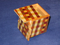 2 Sun 7 Step Ichimatsu Cubic Japanese Puzzle Box  By Mr. Oka
