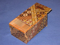 5 Sun 10 Step  Yosegi Japanese Coin Puzzle Box Bank     By Mr. Yamanaka