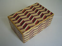 5 Sun 9 Step Notch Stripe Yosegi Japanese Puzzle Box