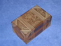 Vintage GERMAN 2 Step Unique Secret Puzzle Box