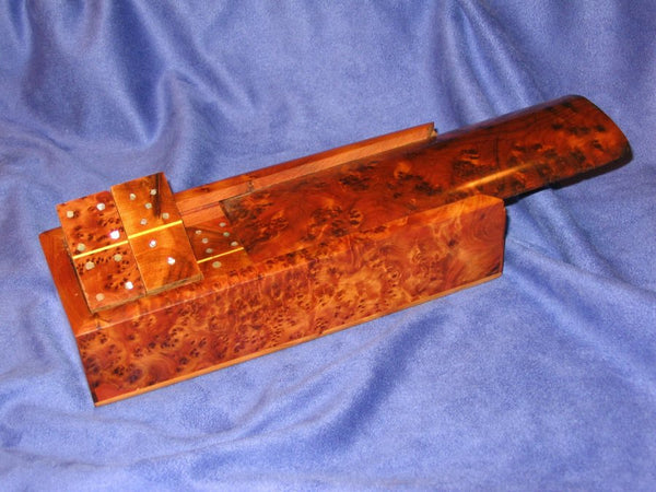 Moroccan Thuya Burl Wood Domino Set