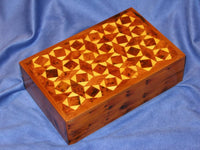 Moroccan Thuya Burl Wood Diamond Design Decorative Box