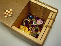 3 Sun 4 Step Natural Wood Jewelry Case Japanese Puzzle Box
