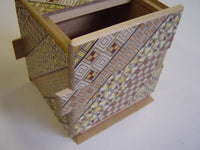 Cubic 18 Step Yosegi Japanese Puzzle Box