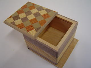 Magnetic 3 Step Japanese Puzzle Box Open