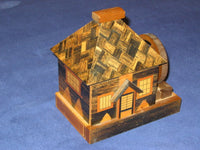 Vintage Japanese Puzzle Box  House Bank