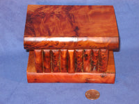 Large Moroccan Thuya Burl Wood Magic Trick Puzzle Box