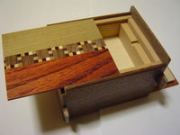 4 Sun 4 HIDDEN COMPARTMENT Natural Wood Japanese Puzzle Box