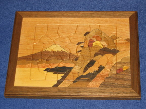 Mt. Fuji Japanese Wooden Jigsaw Puzzle A