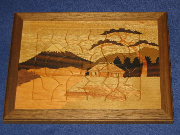 Mt. Fuji Japanese Wooden Jigsaw Puzzle B