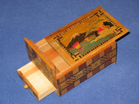 Vintage 4 Sun Japanese Secret Puzzle Box with Musical Drawer 1
