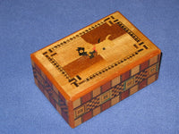 Vintage 4 Sun Japanese Secret Puzzle Box with Musical Drawer 2