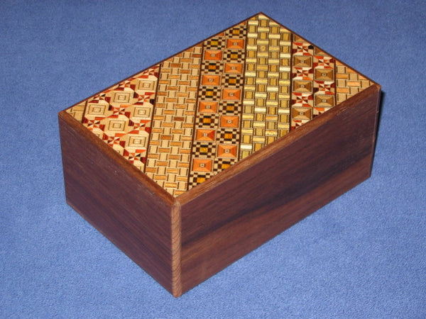 5 Sun 7 Step Natural Wood/Yosegi Japanese Puzzle Box
