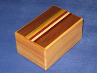 5 Sun 7 + 5 Step DOUBLE COMPARTMENT Natural Wood Japanese Puzzle Box