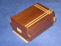 5 Sun 35 +1 Step Limited Edition Natural Wood Japanese Puzzle Box #3
