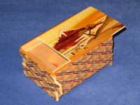 4 Sun 14 Step Toge Fuji Japanese Secret Puzzle Box