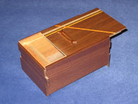 5 Sun 10 Step Limited Edition Natural Wood Japanese Puzzle Box Coin Bank