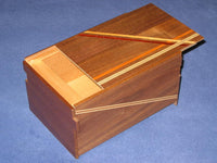 6 Sun 14 Step Double Compartment Natural Wood Limited Edition Japanese Puzzle Box