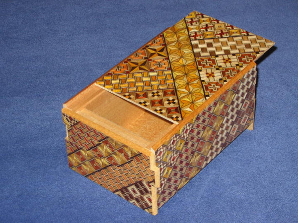 5 Sun 10 Step Yosegi Japanese Puzzle Box by Oka