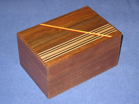 6 Sun 54 + 1 Step Walnut Limited Edition Japanese Puzzle Box B2