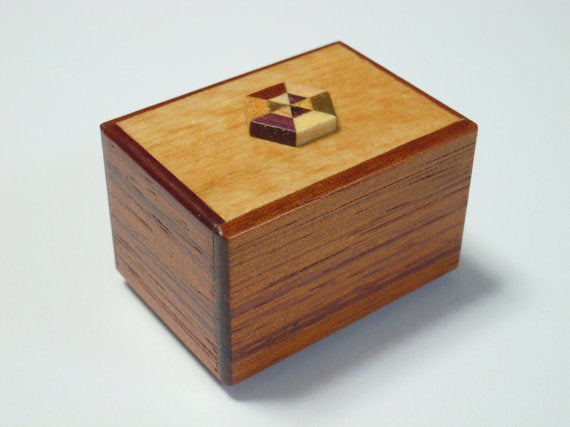 14 Step Mame Kawaii Natural Wood Japanese Puzzle Box 2