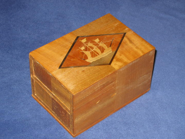 Vintage DOUBLE DRAWER Spring Box Japanese Puzzle Box