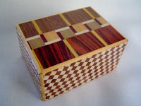 4 Sun 12 Step M Design Yosegi  Japanese Puzzle Box