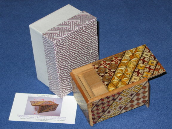 3 Sun 4 Step Yosegi Japanese Puzzle Box By Mr. Oka