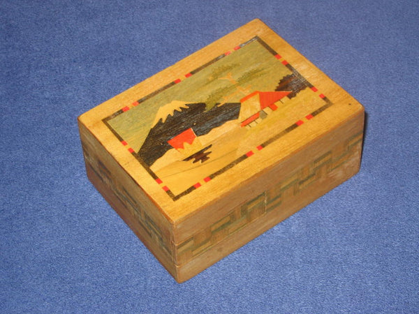Vintage Spring Drawer Japanese Puzzle Box