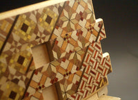 5 Sun 42 Step Yosegi Zougan Japanese Puzzle Box