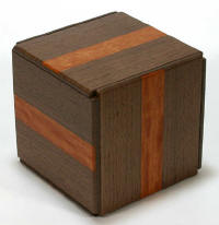 324 Step Super Cubi Japanese Puzzle Box - Race Wood