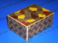 5.5 Sun 21 + 1 Step Ran Yosegi/Saya Japanese Puzzle Box