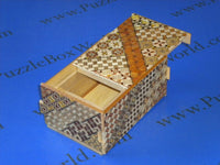 5 Sun 10 Step Yosegi NEW TRICK Japanese Puzzle Box