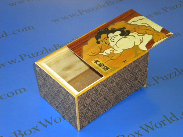 6 Sun Step Limited Edition Sumo Japanese Puzzle Box 2
