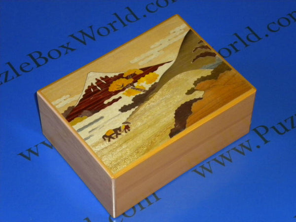 5.5 Sun 21 + 1 Step Touge Japanese Puzzle Box (LW)