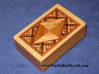 Fortune Cards Japanese Puzzle Box by Tatuo Miyamoto