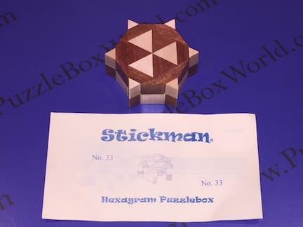 Hexagram Puzzle Box by Robert Yarger (Stickman Puzzles)