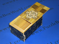 5 Sun 10 Step Limited Edition Flower Ichimatsu Japanese Puzzle Box