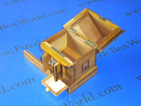 Vintage Japanese House Secret Puzzle Box Bank
