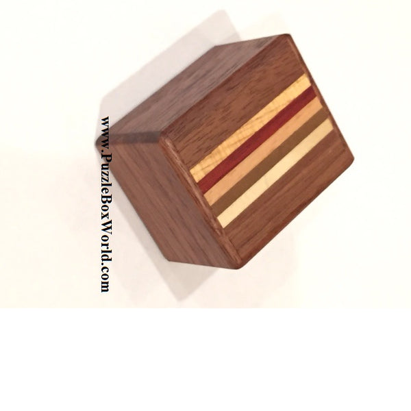 Mame 12 Step NATURAL WOOD Japanese Puzzle Box