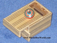 Mame 2 Step MUKU Striped Japanese Puzzle Box A