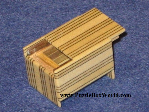 Mame 4 Step MUKU Striped Japanese Puzzle Box