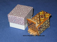 Mame 6 Step Japanese Puzzle Box with Hidden Drawer