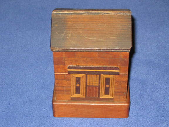 Unique Vintage Japanese House Puzzle Box Bank1