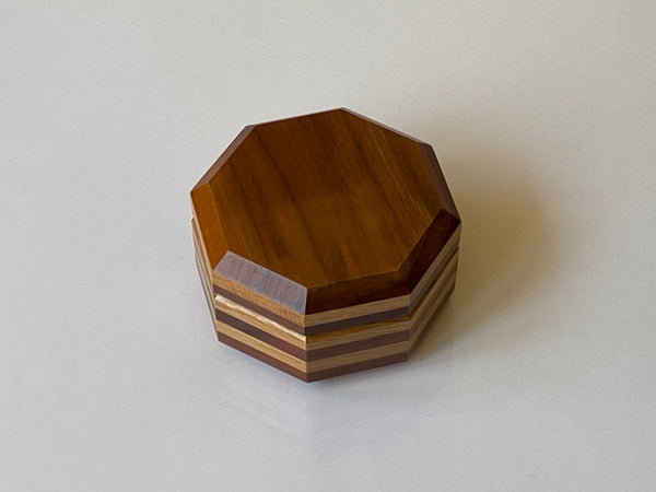 Pile of Disks Japanese Puzzle Box by Akio Kamei  - RARE!