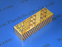 5 Step Right & Left Yosegi and Ichimatsu Japanese Puzzle Box