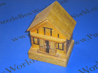 Vintage Japanese House Puzzle Box Bank1