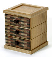Sliding 3 Chest of Drawers by Hiroshi Iwahara